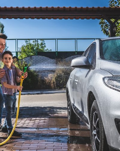 Father-and-son-washing-the-car-together